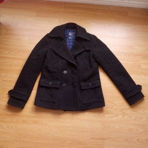 American Eagle Outfitters Black Wool Coat   Size M